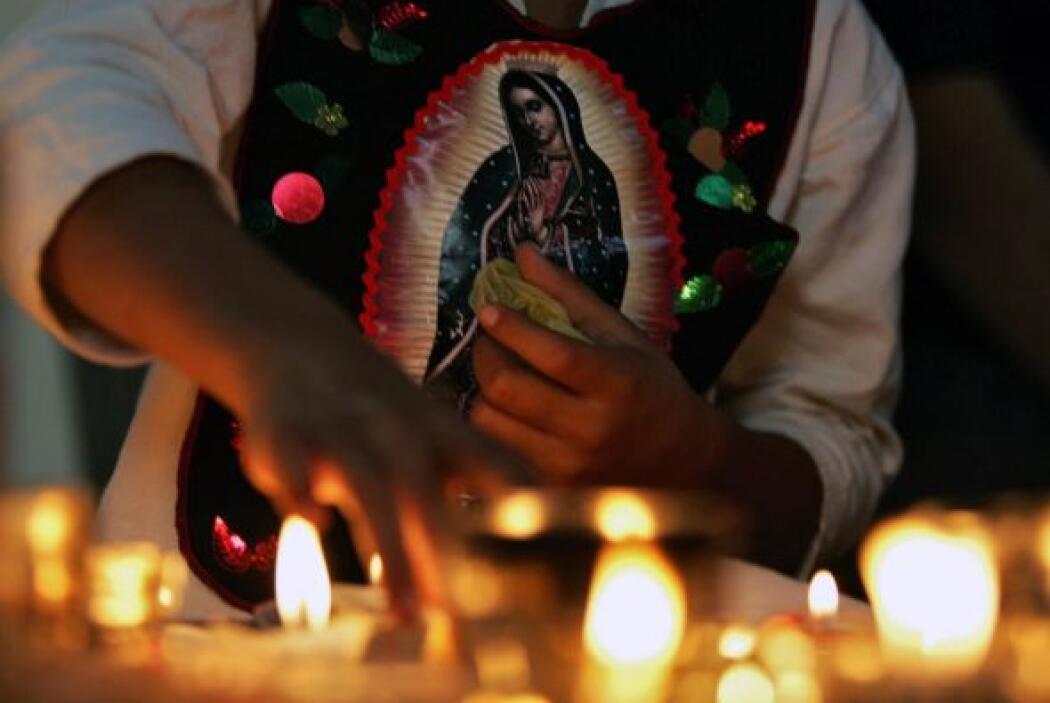 La tradición señala que la Señora se le apareció en el Monte del Tepeyac...