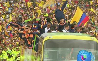 Jugadores de la Selección Colombiana fueron recibidos como héroes