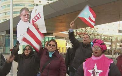 Un grupo de neoyorquinas celebra la pronta liberación del puertorriqueño...