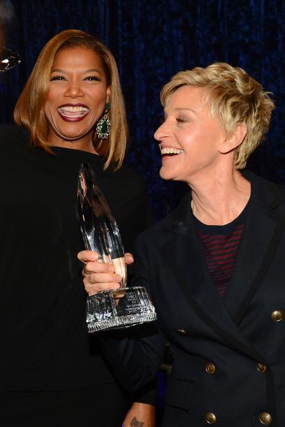 Dos reinas de la conducción: Queen Latifah y Ellen DeGeneres.