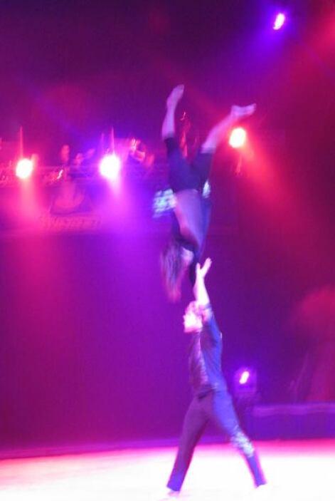 Jose y Roxy se divirtieron como niños en el Circo Hermanos Vazquez en la...
