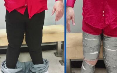 Encuentran a otro hombre con las piernas forradas de cocaína en el Aerop...