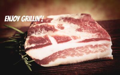 Corte de carne con grasa