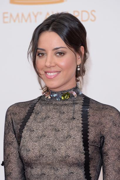 """72. AUBREY PLAZA La actriz de raíces latinas brilla en el show """"Parks &..."""