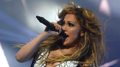 La cantante lista para presentarse en Las Vegas.