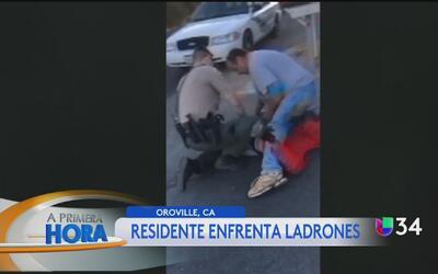 Residente enfrenta a ladrona