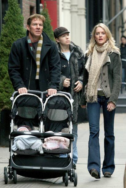 Los pequeños Thomas y Zoe fueron los gemelos que el actor, Dennis...