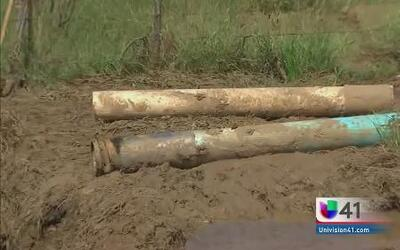 Tubería rota dejó sin agua a una ciudad