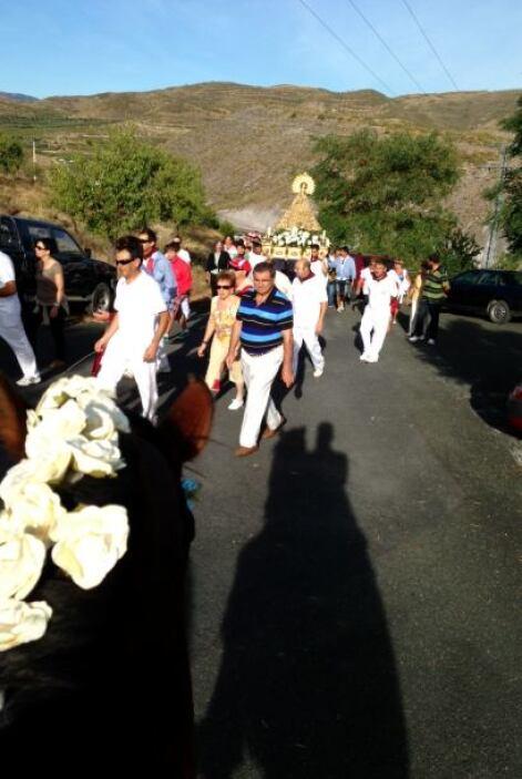 Fiestas patronales. La procesión de la Virgen del Villar
