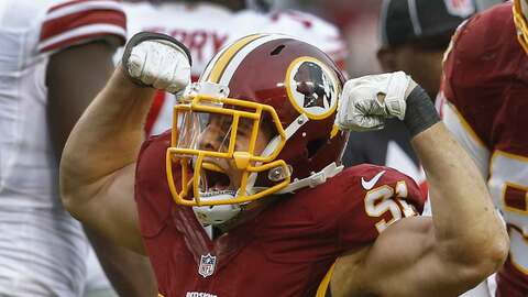 Redskins 20-14 Giants: Washington empató a NY en el liderato del Este de...