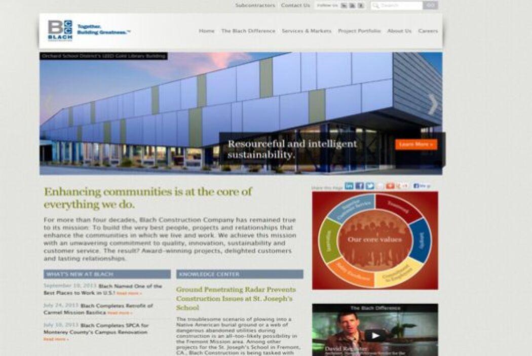 14. Blach Construction Company   Industria: Construcción y bienes raíces...