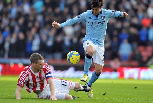 David Silva gozó de las mejores oportunidades del City.