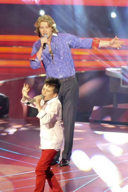 """Los dos cantantes interpretaron el reconocido éxito """"Te Amo&..."""