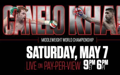 Sa'ul Alvarez y Amir Khan pelea el 7 de mayo en Las Vegas.