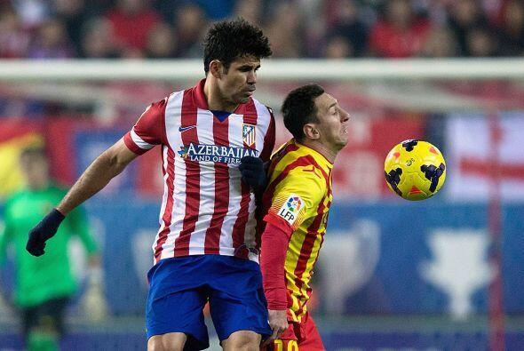 La marca del Atlético fue dura y no dio libertades al Barcelona.
