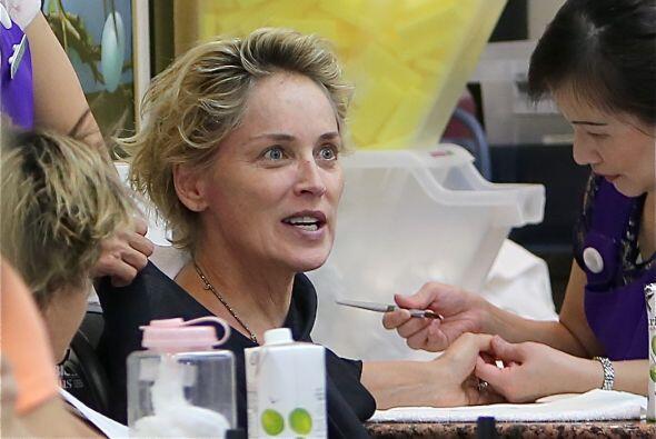 El mérito de Sharon Stone y su buen porte es, tal vez, este sal&o...