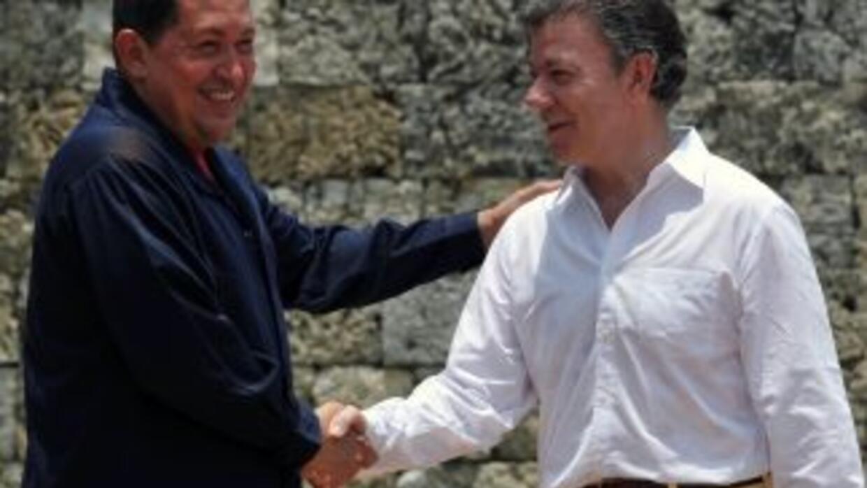 El presidente venezolano se reunió con su homólogo colombiano, Juan Manu...