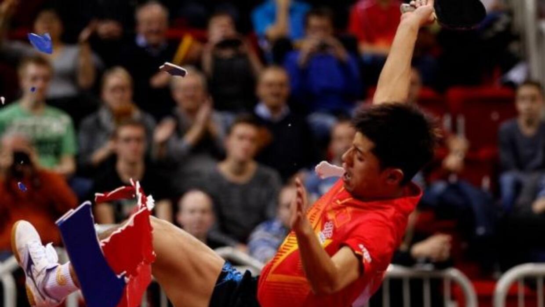 El chino festejó efusivaente luego de ganar su juego, por lo que fue cas...