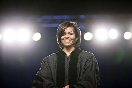 El 8 de mayo de 2010 Michelle recibió un doctorado honoris causa en la U...