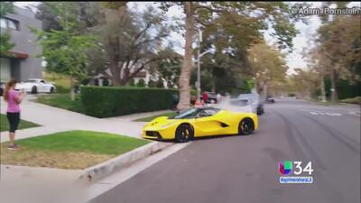 ¿Carreras clandestinas en Beverly Hills?