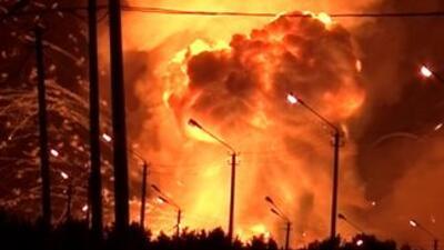 Las autoridades reconocen las explosiones, pero niegan que hayan sido en...
