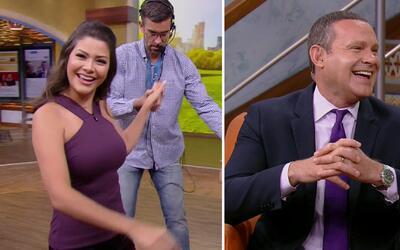 #DAEnUnMinuto: Anita amaneció irresistible y Alan prometió invitar el café