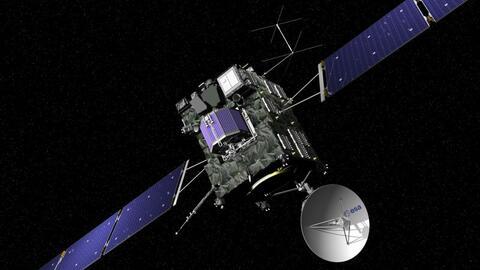 Rosetta lanzó en 2014 un pequeño módulo llamado Philae para que aterriza...
