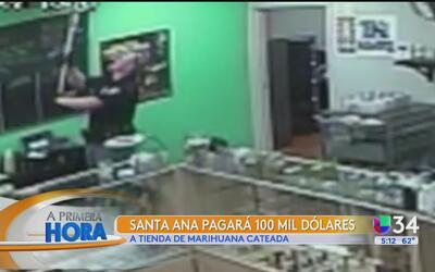 La ciudad de Santa Ana pagará 100,000 dólares a una tienda de marihuana