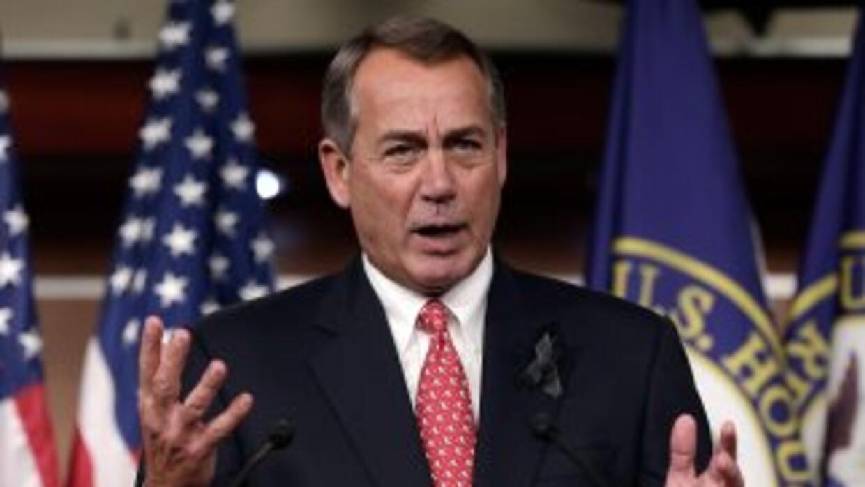 El presidente de la Cámara de Representante, John Boehner.