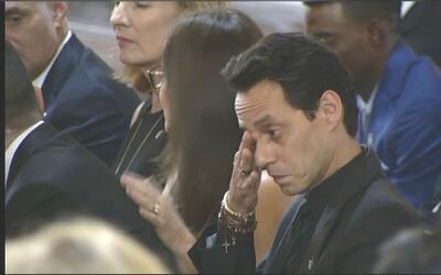 Marc Anthony en la misa en honor al beisbolista José Ferná...