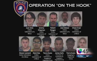 Arrestan a 11 depredadores sexuales en Galveston