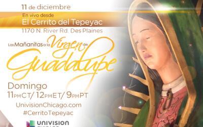 Transmisión de las mañanitas a la virgen de Guadalupe desd...