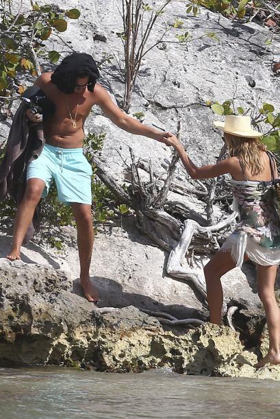 Las playas de St. Barts fueron el escenario ideal para su salidita rom&a...