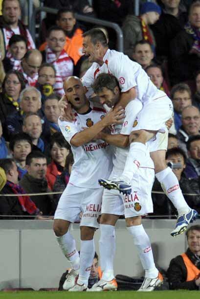 El portugués Nunes igualó provisionalmente el partido para el Mallorca....