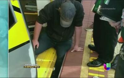 Héroes anónimos liberaron pierna de un hombre en un tren