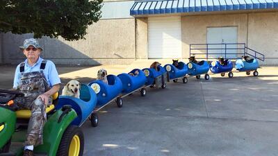 El trenecito de los perros en Fort Worth, Texas