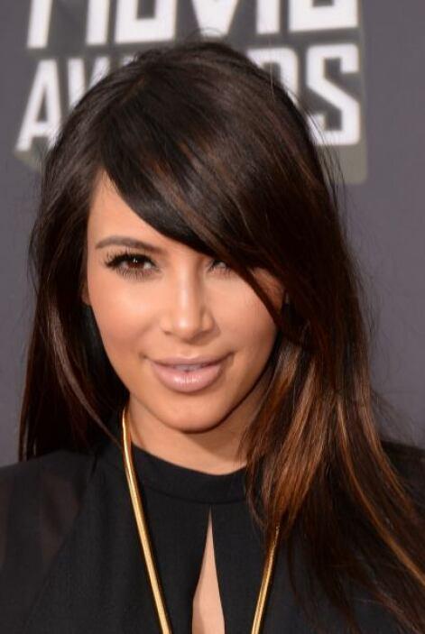 Como los ojos de Kim son muy llamativos, una boca 'nude' es fundamental....