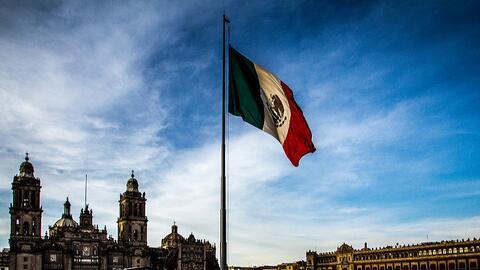 Plaza El Zócalo en la Ciudad de México.