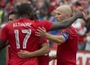 Altidore y Bradley celebran victoria de Toronto