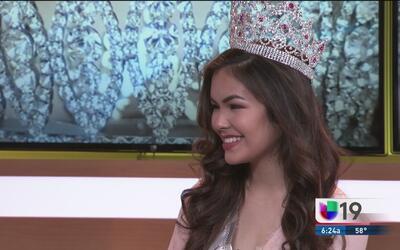 Gabby Da Silva, Miss Cover Girl 2016, vuelve a los estudios de Univision 19