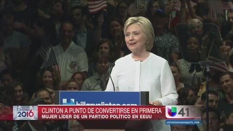 Elección histórica da victoria a Clinton en NJ