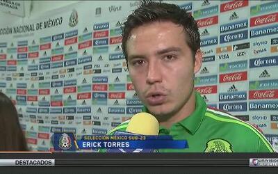"""Erick Torres: """"Me visualizo titular con el Tri Olímpico"""""""