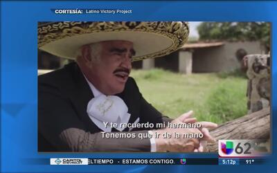Vicente Fernández le compuso un corrido a Hilary Clinton
