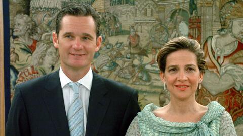 La infanta Cristina y su esposo Iñanki de Urdangarín en el...