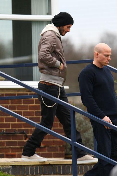 David llegó muy temprano a las instalaciones del club.