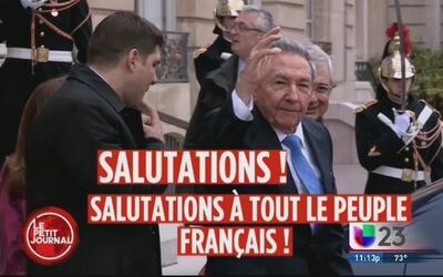 Lleno de burla viaje de Raúl Castro a Francia