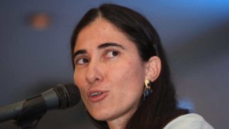 La bloguera cubanaYoani Sánchez.