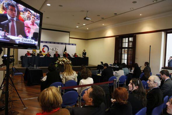 El presidente de la Corte Interamericana, el juez peruano Diego García S...