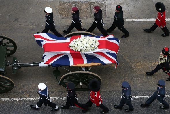 Cabe señalar que los restos de Margaret Thatcher serán inc...