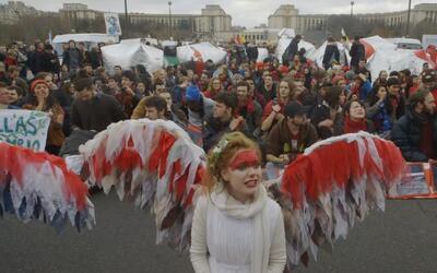 Activistas del clima en París